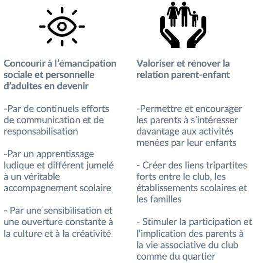 Missions projet socio-éducatif